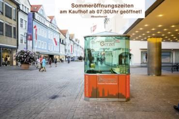 Sommeröffnungszeiten Kaufhof
